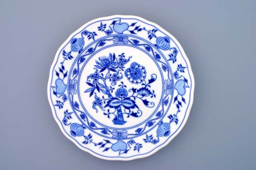 Talíř cibulák Akce - 18% mělký 24cm originál cibulákový vzor, cibulový porcelán Dubí-1.jakost 10004
