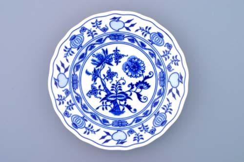 Cibulákový porcelán talíř dezertní 17 cm - originální cibulák, cibulový porcelán Dubí 1.jakost 10008