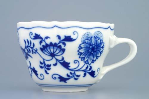 Cibulák šálek vysoký C, 0,25 l, originální cibulákový porcelán Dubí, cibulový vzor, 1.jakost 10013
