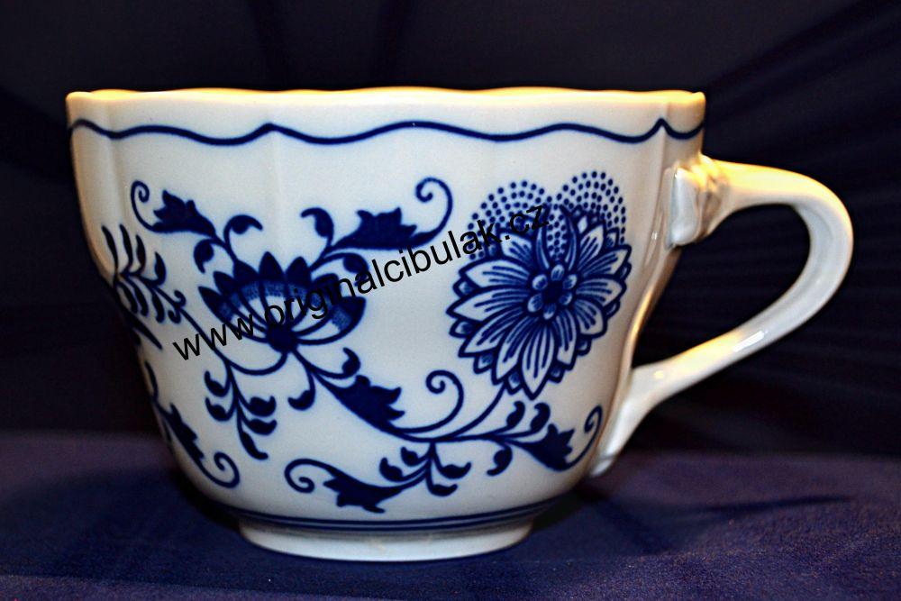 Cibulák šálek vysoký C, 0,25 l, originální cibulákový porcelán Dubí, cibulový vzor, 1.jakost