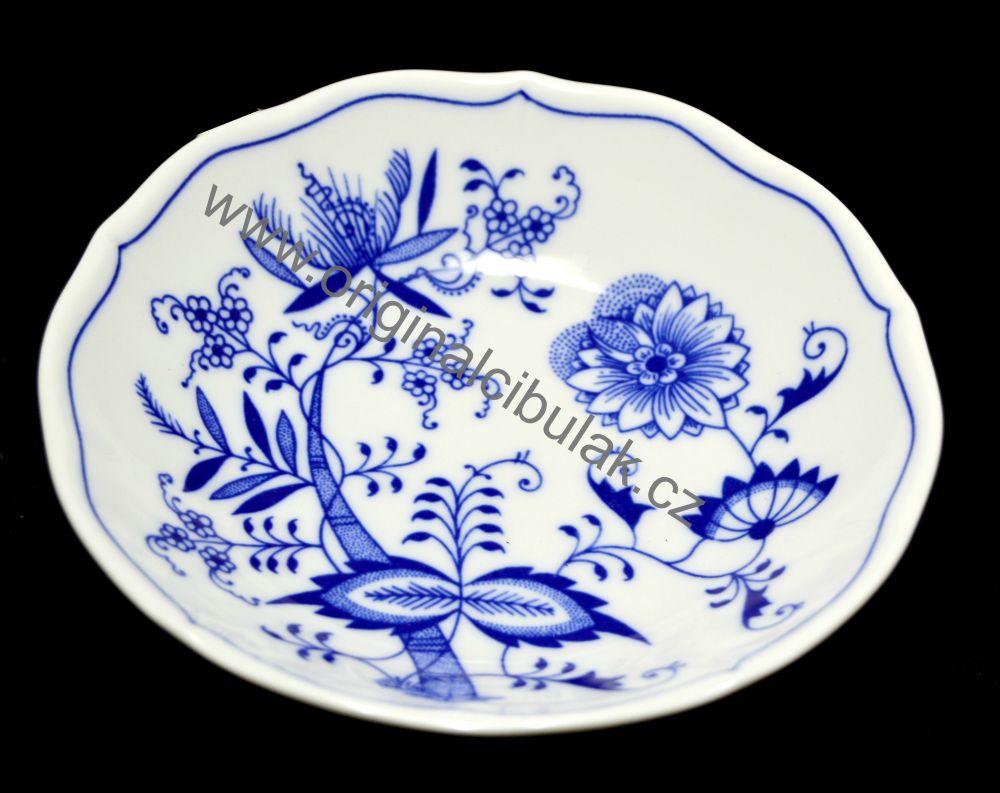 Cibulák podšálek C, 15,5 cm, originální cibulákový porcelán Dubí, cibulový vzor, 1.jakost