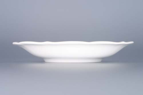 Cibulák podšálek zrcadlový nízký ZC/1, 15,5 cm, originální cibulákový porcelán Dubí, cibulový vzor, 1.jakost