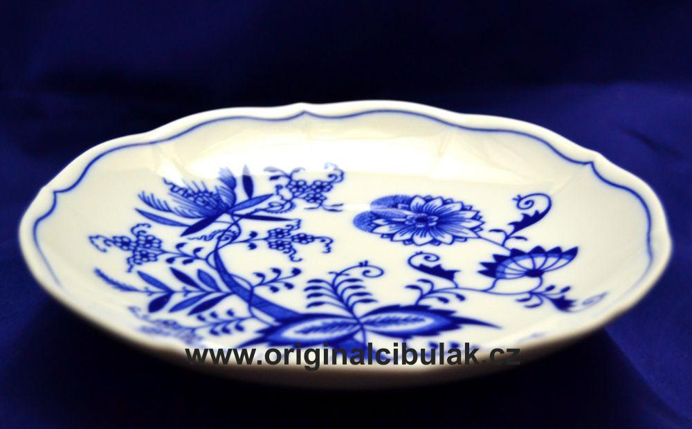 Cibulák podšálek bujón, 17,5 cm, originální cibulákový porcelán Dubí, cibulový vzor, 1.jakost