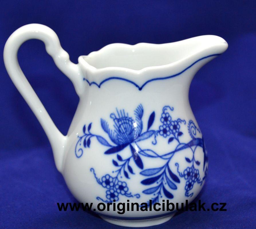 Cibulák mlékovka vysoká 0,16 l, originální cibulákový porcelán Dubí, cibulový vzor, 1.jakost 10031