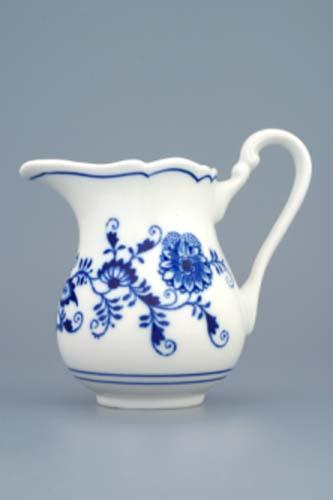 Cibulák mlékovka vysoká 0,25 l, originální cibulákový porcelán Dubí, cibulový vzor, 1.jakost 10032