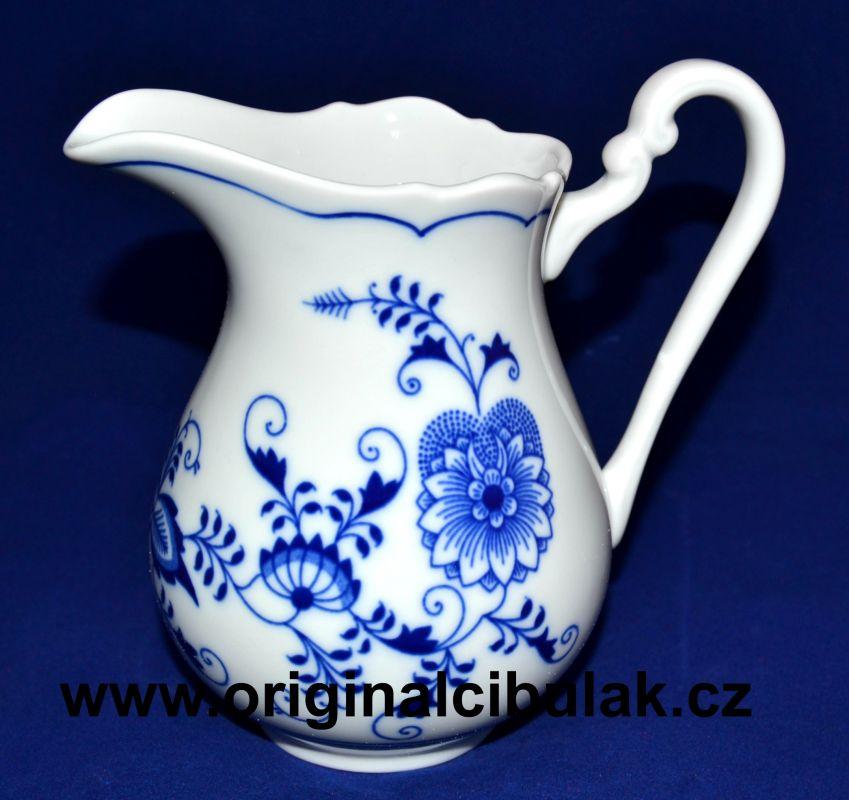 Cibulák mlékovka vysoká 0,50 l, originální cibulákový porcelán Dubí, cibulový vzor, 1.jakost
