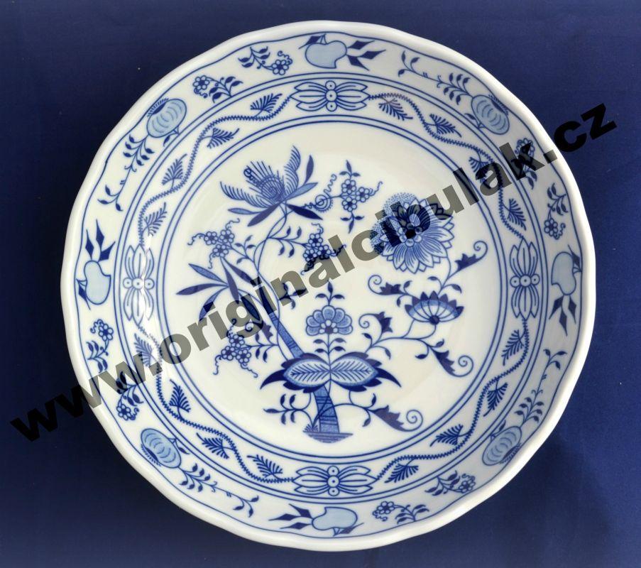 Cibulák mísa kompotová 27,5 cm originální cibulákový porcelán Dubí, cibulový vzor, 1.jakost 10051