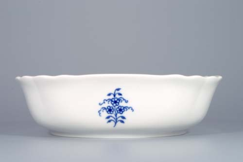 Cibulák mísa salátová čtyřhranná italská 19 cm originální cibulákový porcelán Dubí, cibulový vzor, 1.jakost
