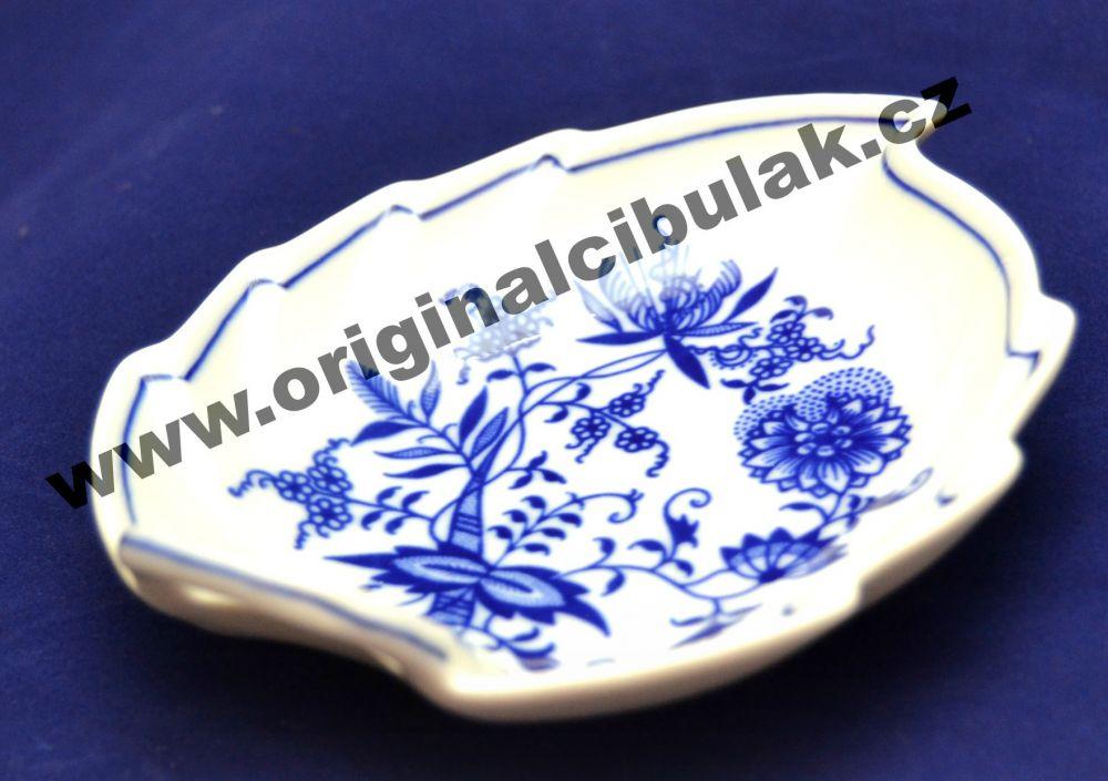 Cibulák mísa list 15 cm originální cibulákový porcelán Dubí, cibulový vzor, 1.jakost