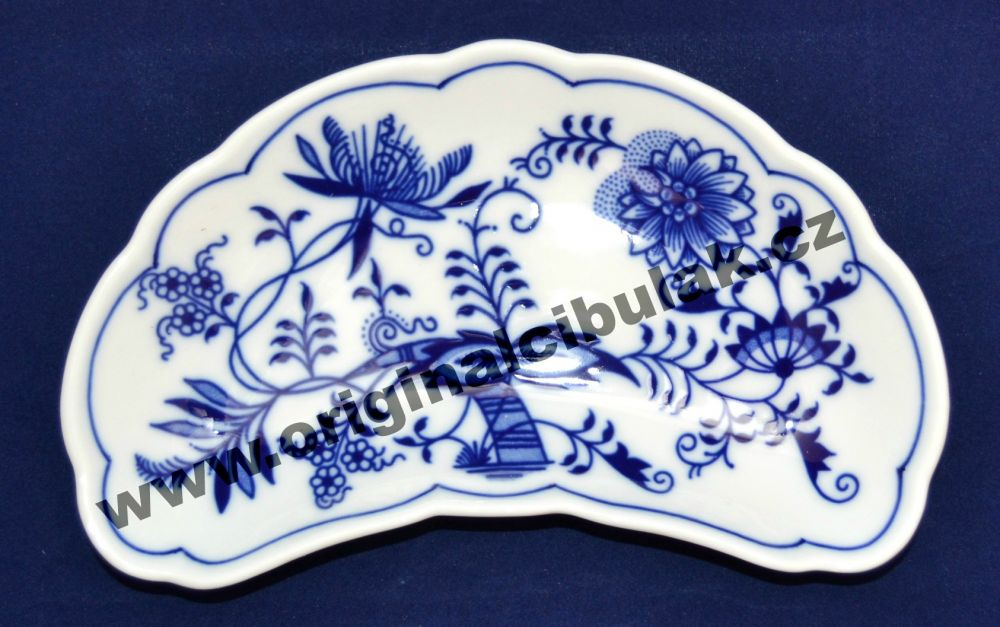 Cibulák miska na kosti 19 cm originální cibulákový porcelán Dubí, cibulový vzor, 1.jakost