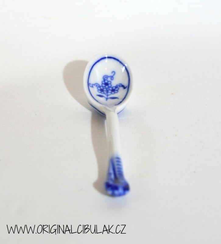 Cibulák lžička 12 cm originální cibulákový porcelán Dubí, cibulový vzor, 1.jakost
