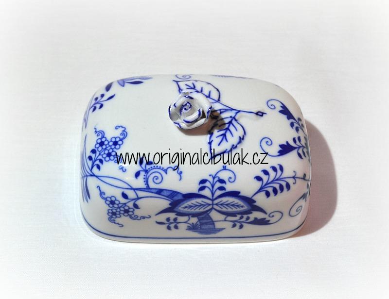Cibulák Máslenka hranatá malá vršek 13 cm originální cibulákový porcelán Dubí, cibulový vzor, 1.jakost