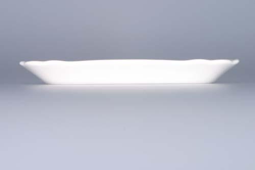Cibulák Máslenka hranatá malá spodek 17 cm originální cibulákový porcelán Dubí, cibulový vzor, 1.jakost