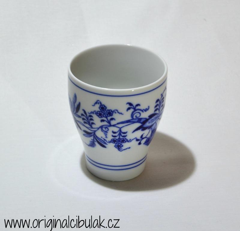 Cibulák pohárek bez oušek 0,25 l originální cibulákový porcelán Dubí, cibulový vzor, 1.jakost