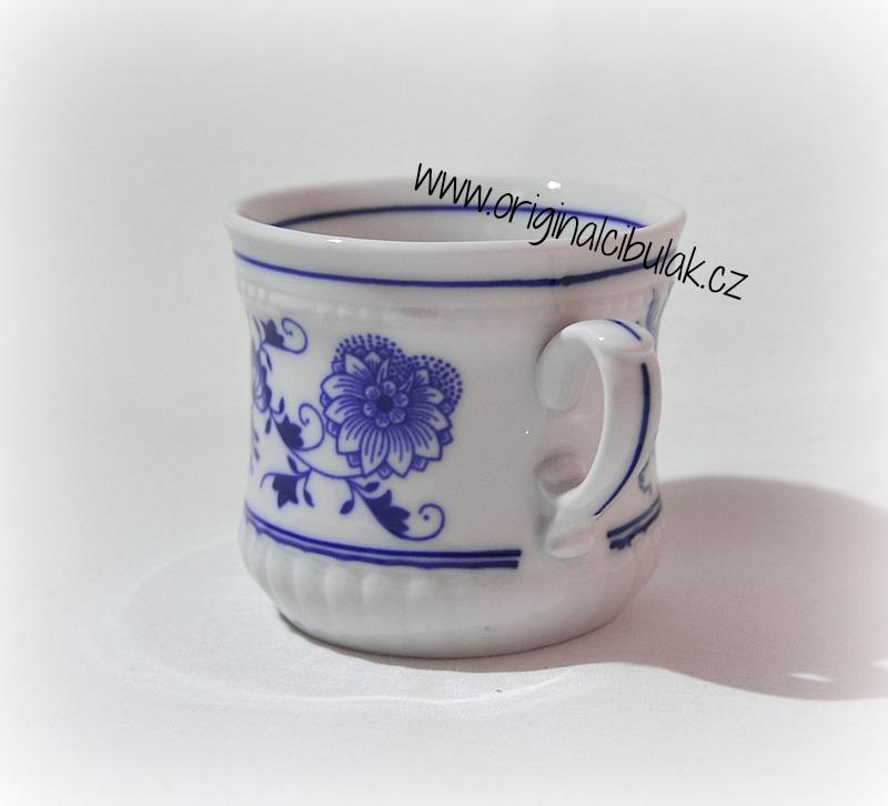 Cibulák hrnek Perlový malý 0,26 l originální cibulákový porcelán Dubí, cibulový vzor, 1.jakost