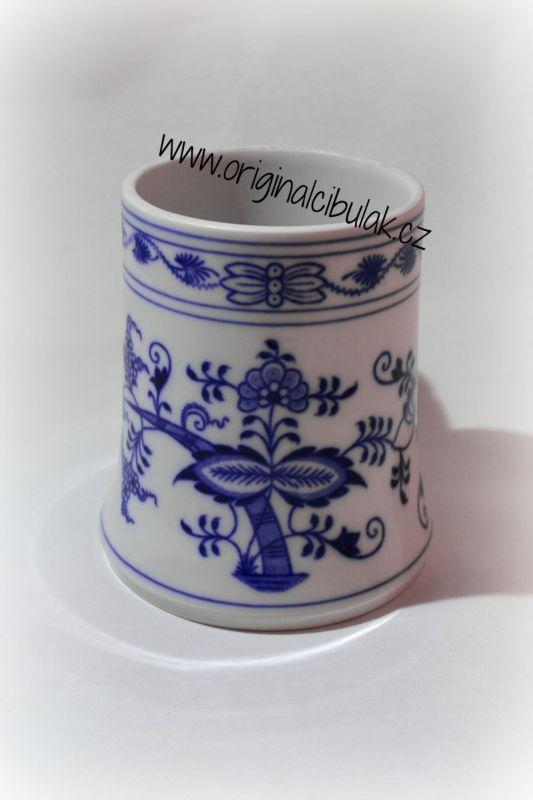 Cibulák korbel holba 0,50 l originální cibulákový porcelán Dubí, cibulový vzor, 1.jakost