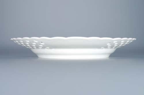 Cibulák talíř prolamovaný 24 cm originální cibulákový porcelán Dubí, cibulový vzor, 1.jakost