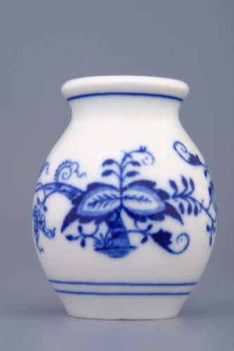Cibulák váza 1209, 7 cm, originální cibulákový porcelán Dubí, cibulový vzor, 1.jakost