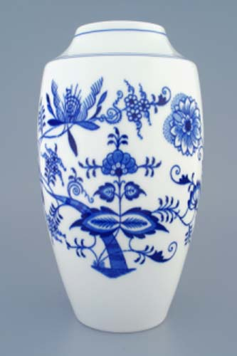 Cibulák váza 1211, 27 cm originální cibulákový porcelán Dubí, cibulový vzor, 1.jakost