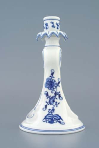 Cibulák svícen 1983, 22 cm originální cibulákový porcelán Dubí, cibulový vzor, 1.jakost
