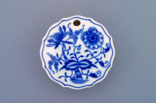 Cibulák dóza na sladidlo kulatá 7 cm originální cibulákový porcelán Dubí, cibulový vzor, 1.jakost 10247