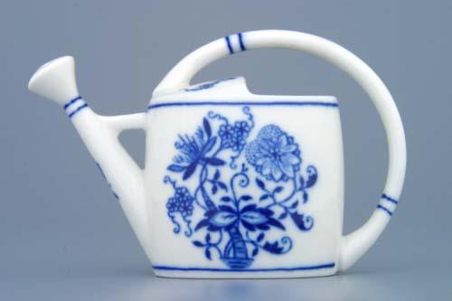 Cibulák konvička zahradni mini 8,5 cm originální cibulákový porcelán Dubí, cibulový vzor, 1.jakost