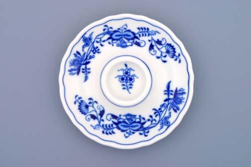 Cibulák kalíšek na vejce nízký talířek 13 cm originální cibulákový porcelán Dubí, cibulový vzor, 1.jakost