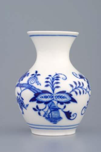 Cibulák váza 2544/1, 10 cm originální cibulákový porcelán Dubí, cibulový vzor, 1.jakost