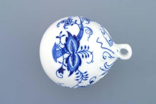 Cibulák vánoční ozdoba koule 7 cm originální cibulákový porcelán Dubí, cibulový vzor, 1.jakost 10293