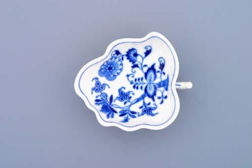 Cibulák cukřenka list na nožkách 10,8 cm originální cibulákový porcelán Dubí, cibulový vzor, 1.jakost