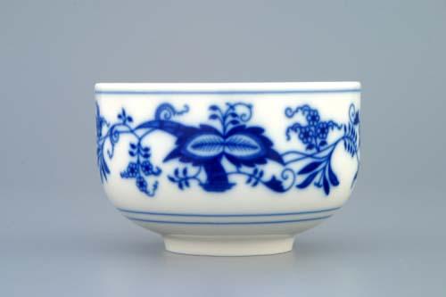 Cibulák šálek rovný bez ouška 0,125 l originální cibulákový porcelán Dubí, cibulový vzor, 1.jakost