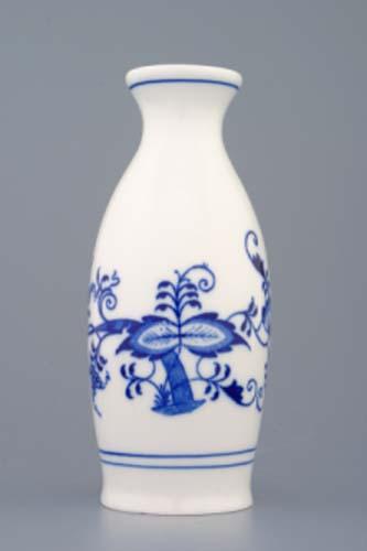 Cibulák nádobka na saké 16 cm originální cibulákový porcelán Dubí, cibulový vzor, 1.jakost
