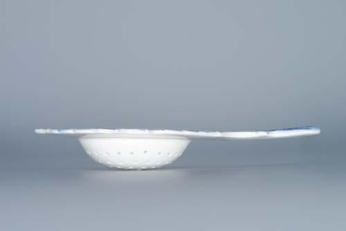 Cibulák sítko na čaj 16 cm originální cibulákový porcelán Dubí, cibulový vzor, 1.jakost