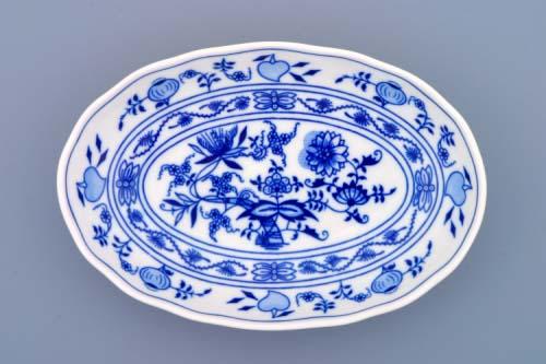 Cibulák mísa salátová oválná 20 cm originální cibulákový porcelán Dubí, cibulový vzor, 1.jakost