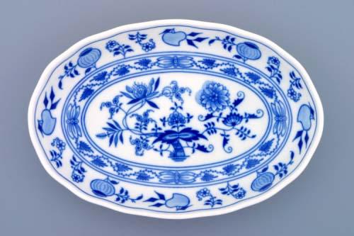 Cibulák mísa salátová oválná 23 cm originální cibulákový porcelán Dubí, cibulový vzor, 1.jakost