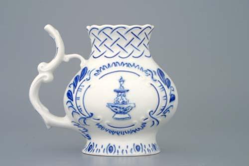 Cibulák pohárek lázeňský reliéfní Teplice 12 cm originální cibulákový porcelán Dubí, cibulový vzor, 1.jakost