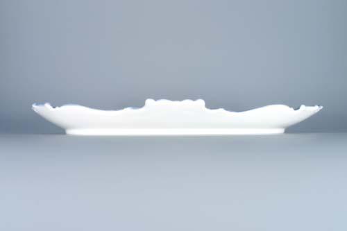 Cibulák podnos reliéfní 35 cm originální cibulákový porcelán Dubí, cibulový vzor, 1.jakost