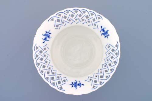 Cibulák Květináč prolamovaný 19 cm originální cibulákový porcelán Dubí , cibulový vzor, 1. jakost