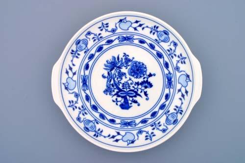 Cibulák Talíř kupový s uchy 24,6 cm originální cibulákový porcelán Dubí, cibulový vzor, 1.jakost