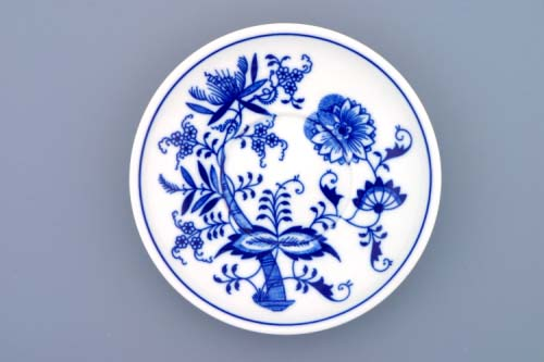 Cibulák Podšálek Ben M 15,3 cm originální cibulákový porcelán Dubí, cibulový vzor, 1.jakost