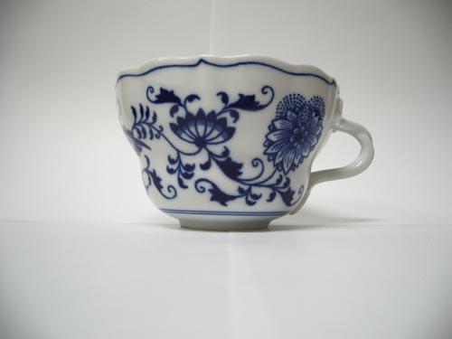 Cibulák Šálek vysoký D 0,35 l originální cibulákový porcelán Dubí, cibulový vzor, 1.jakost 10492