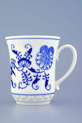 Cibulák hrnek Derby M 0,25 l, originální cibulákový porcelán Dubí, cibulový vzor, 1.jakost