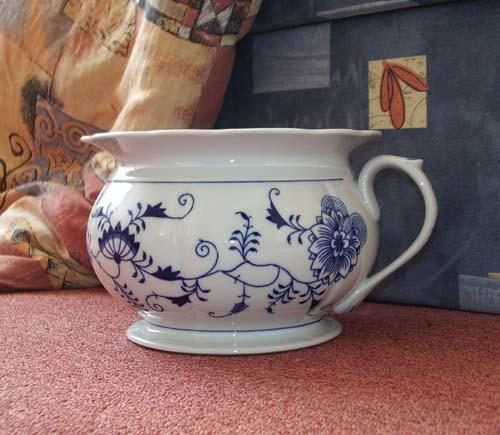 Cibulák Nočník 21 cm originální cibulákový porcelán Dubí, cibulový vzor, 1.jakost