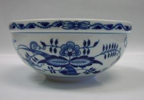 Cibulák Mísa kulatá velká 20 cm originální cibulákový porcelán Dubí, cibulový vzor, 1.jakost