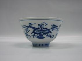 Cibulák miska čajan 12 cm originální cibulákový porcelán Dubí, cibulový vzor, 1.jakost