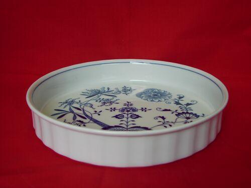 Cibulák mísa zapékací kulatá velká 26 cm originální cibulákový porcelán Dubí, cibulový vzor, 1.jakost