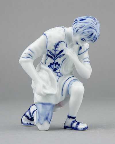 Cibulák Ovčák 11 cm originální cibulákový porcelán Dubí, cibulový vzor, 1.jakost