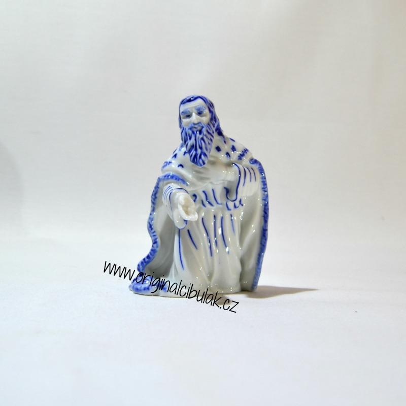 Cibulák Král Melichar 11,5 cm originální cibulákový porcelán Dubí, cibulový vzor, 1.jakost