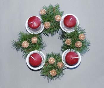 Cibulák Svícen adventní (4 svíčky) 21,5 cm originální cibulákový porcelán Dubí, cibulový vzor, 1.jakost