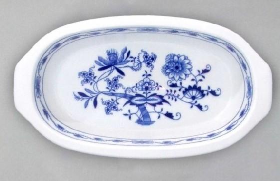 Cibulák Mísa zapékací s uchy 25 cm originální cibulákový porcelán Dubí, cibulový vzor, 1.jakost